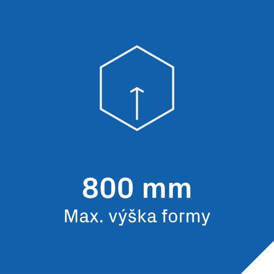 VF lis Biesse 9 Maximální výška formy u vakuového lisu Biesse 9 je 800 mm.